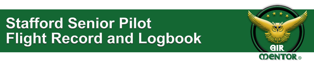 Stafford Senior Pilot Flight Record and Logbook