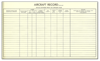 Aircraft Record Page